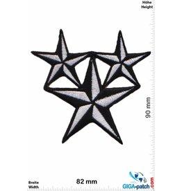 Stern 3 Star - silber / schwarz