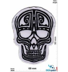 Muerto Skull - Totenkopf - Muerto- swhite black
