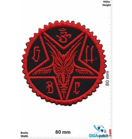 Pentagramm Pentagram red