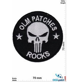 Punisher OLM Patches - Rocks - Punisher - Silver