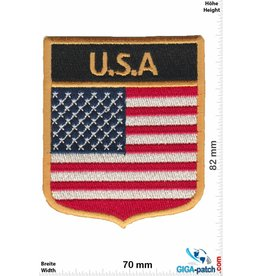 USA U.S.A .  coat of arms- USA - Flags - black