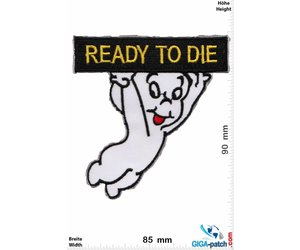 Casper The Friendly Ghost Embroidered Iron on Patch Set of 2