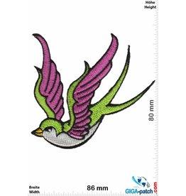 Vögel, Oiseau, Bird Vogel  - rechts  - green -pink