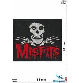 Misfit Misfits - Skull - red silver