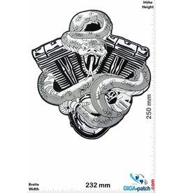 Bikerpatch Snake - V Power - black / white - 25 cm