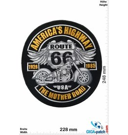 Route 66 America's Highway - Route 66- The Mother Road - 25 cm