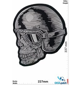Bikerpatch Skull Helmet- Cafe Racer - 32 cm