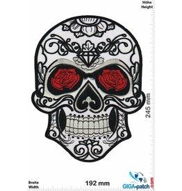 Muerto Skull - Muerto- rose - white -  24 cm