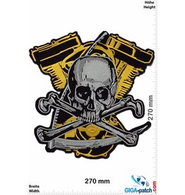 Biker Skull- Pirate - Reaper - Motor -  27 cm - BIG