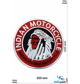 Indian Indian Motorcycles - America's First Motorcycle - round - Schrift- 25 cm