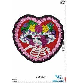 Skull Skullsweetie - Totenkopf Herz - Old School  - 25 cm - BIG
