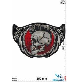 Biker Totenkopf - Irokese- Skull -  25 cm - BIG