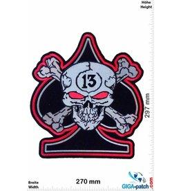 Lucky 13 Lucky 13 -  Totenkopf - Pik  -  30 cm - BIG