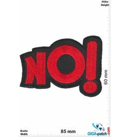 No   NO! - red