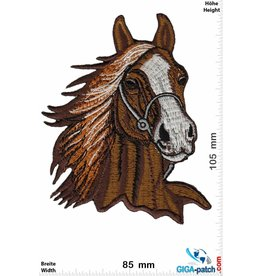 Pferd Horsehead - Horse - brown - BIG