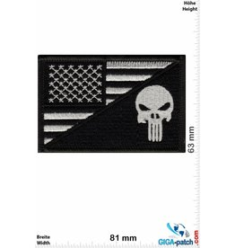 Punisher Punisher - Flag - USA - silver