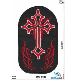Kreuz Crucifix - red  black