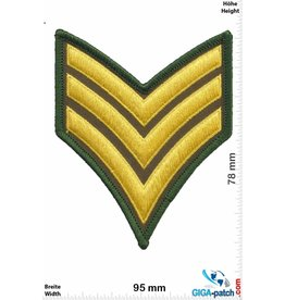 Sergant Sergeant - 3 Stripes - gold  green
