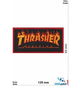 Thrasher Thrasher Magazine -  red Flame - Skater - HQ