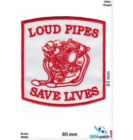 Biker Loud Pipes Sace Lives - red
