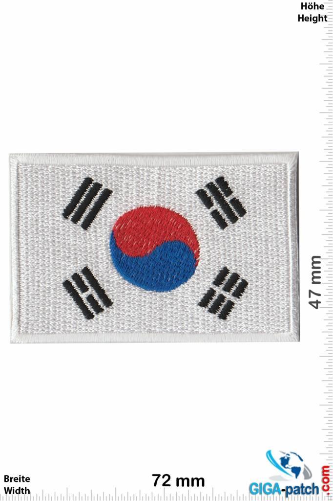 Small South Korea Flag Patch