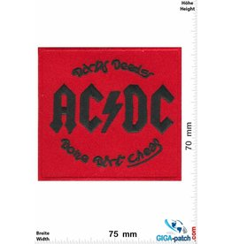 AC DC ACDC  - rot - AC/DC - Dirty Deeds Done Dirt Cheap