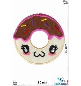 Donut Donut - Face - brown