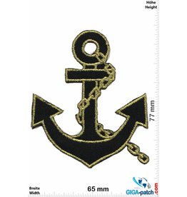 Marine Anchor-Navy - gold