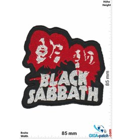 Black Sabbath Black Sabbath - red 4 Heads