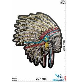 Indian Skull Indian Chief - Totenkopf Indianerhäuptling  - 25 cm - BIG