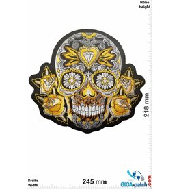 Muerto Skull - Muerto with rose gold - weiss -  24 cm