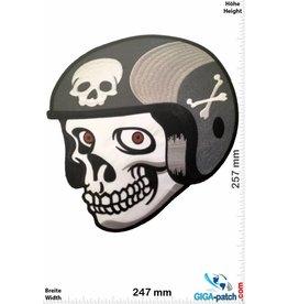 Cafe Racer Skull Helmet- Cafe Racer - 25 cm