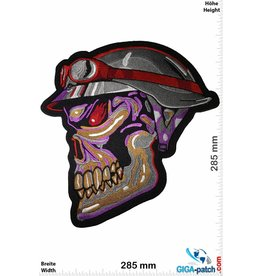 Cafe Racer Skull Helmet- Cafe Racer - purple - 28 cm