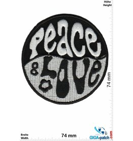 Frieden Peace & Love - black white