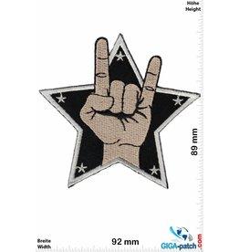 Oldschool Mudra - Metal Sign - Pommesgabel - star