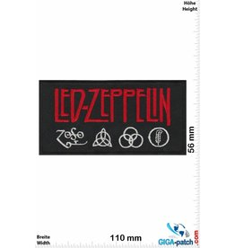 Led Zeppelin Led Zeppelin - silver red