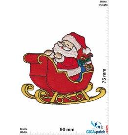 Weihnachten Weihnachtsmann mit Schlitten