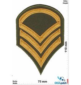Sergant 3 Streifen - gold -  Sergant -Military