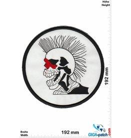 Punk Skull - Punk-white - 19 cm