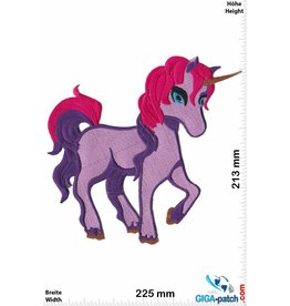 Unicorn Einhorn - Unicorn - Purple - 22 cm