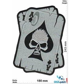 Skull Skull  Cards - AS - Totenkopf - 24 cm - BIG