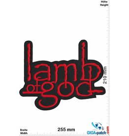Lamb of God  Lamb of God - 25cm - red - Big