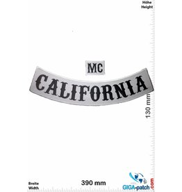 Sons of Anarchy  Sons of Anarchy- California + MC - white  - 39 cm - BIG