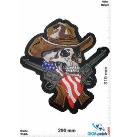 Cowboy Skull Cowboy with 2 Colts- Totenkopf - 24 cm - BIG