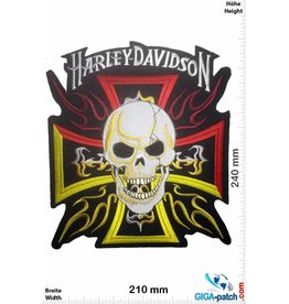 Harley Davidson Harley Davidson - Skull Cross - 24 cm -BIG