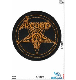 Venom Venom - Pentagram - round gold - Metal-Band- Music
