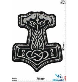 Wikinger Mjölnir - black silver - big -  Viking - Thor Hammer - Loki Odin
