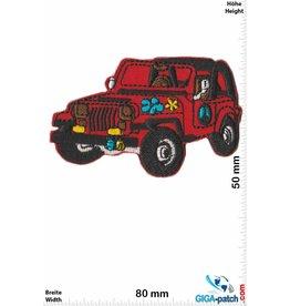 Frieden Jeep - Peace - Frieden -red