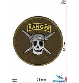 Army Ranger - rund - Totenkopf - green