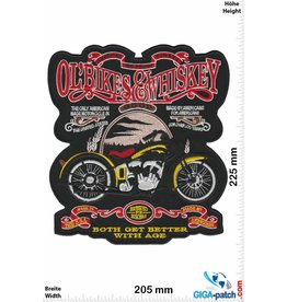 Ol' Bikes & Whiskey  Ol' Bikes & Whiskey - Both get better with Age- 22 cm - BIG